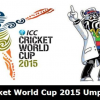 The elite team of match officials for the Cricket World Cup 2015