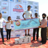 "Mandar Divse (10km Men) and Nikita Prabhu (10km Women) win the coveted ""Swimmathon 2015"""