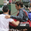 Roger Federer not amused with on-court selfie