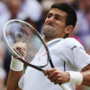 Novak beats Federer; almost loses eye while celebrating
