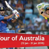 Australia vs India 2016: ODI/T20 Series Schedule and Fixtures