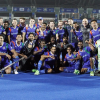 Uttar Pradesh Wizards celebrate their solitary win on home turf