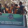 Fans join Team Patna Pirates' victory march in Patna