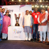 Hon'ble Shri Vijay Rupani, Chief Minister of Gujarat unveils the trophy for 2016 Kabaddi World Cup