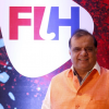 Hockey India President Narinder Batra returns home to a warm welcome after becoming the FIH Chief