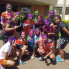 Indian Women's Hockey team enjoy a splash of colours