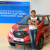 Harmanpreet Kaur presented with a Datsun redi-GO  for cricket feats