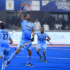Dominant Indian Men's Hockey Team score a comfortable 6-0 win against Japan
