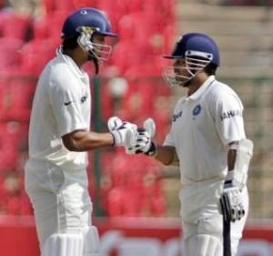 Murali Vijay and Sachin Tendulkar