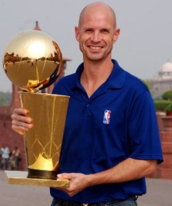 Troy with NBA Trophy