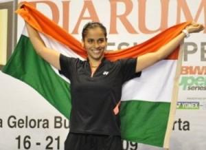 Saina Nehwal led team arrives in Delhi enroute to London