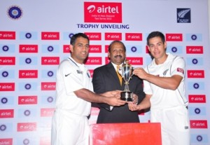 Airtel India - New Zealand Test & T20 Cricket Series Trophy unveiled