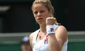 Kim Clijsters on court for the last time