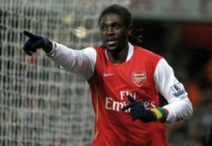 Former Arsenal man Emmanuel Adebayor who plays for Spurs made the difference between the sides