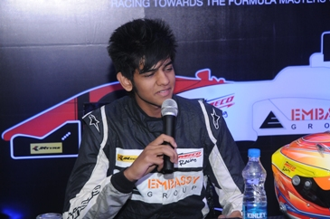 Racing Driver Raj Bharath in the Formula Masters Asian Series