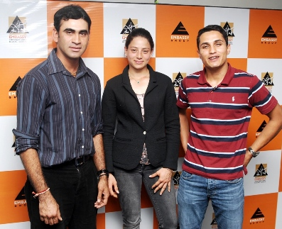 Ajai Appachu, Nadia Haridass  and Fouaad Mirza (from left to right) from Embassy International Riding School (EIRS)