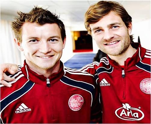 Danish international strikers, Mads Junker and Morten Skoubo