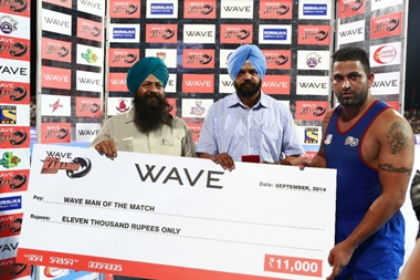 Man of the Match Sandeep Singh Sandhu from United Singhs
