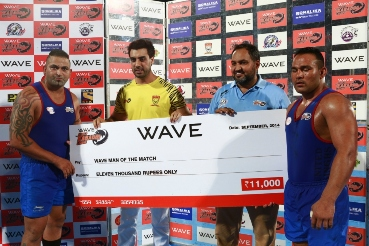 Wave World Kabaddi League - United Singhs beats Yo Yo Tigers