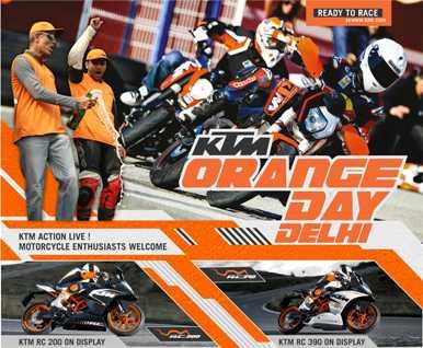 KTM Orange Day in Delhi