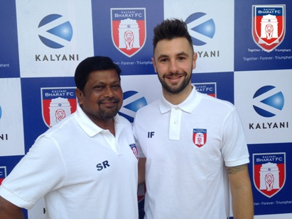 Ian Farmery Bharat Fc's physiotherapist with Stanly Rozario Bharat FC's assistant coach