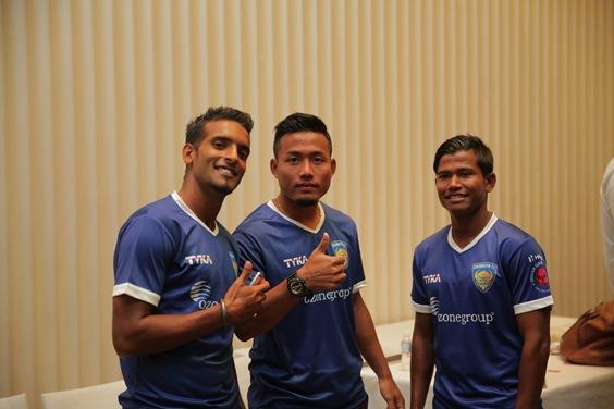 Chennaiyin FC - Harmanjot Khabra, Jeje Lalpekhlua and Abhishek Das