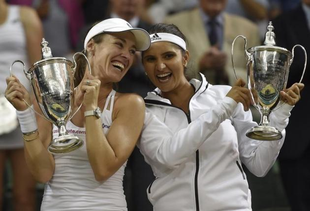 Wimbledon 2015: Sania Mirza-Martina Hingis win women's doubles final