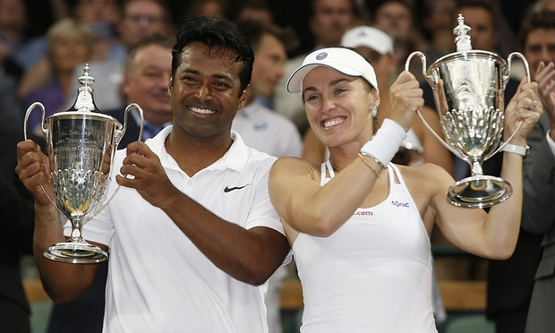 Wimbledon 2015: Leander and Martina win mixed double final