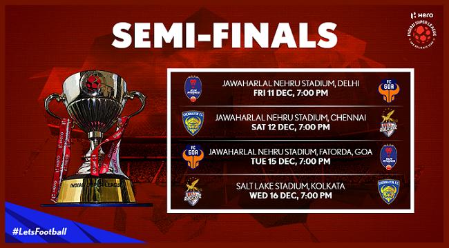 ISL 2015 Semi-Final Fixtures
