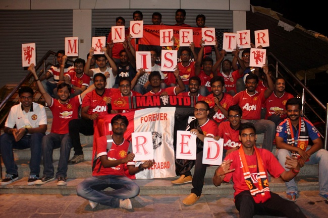 We all knew Manchester was Red, but, here, Hyderabad is Red too :)