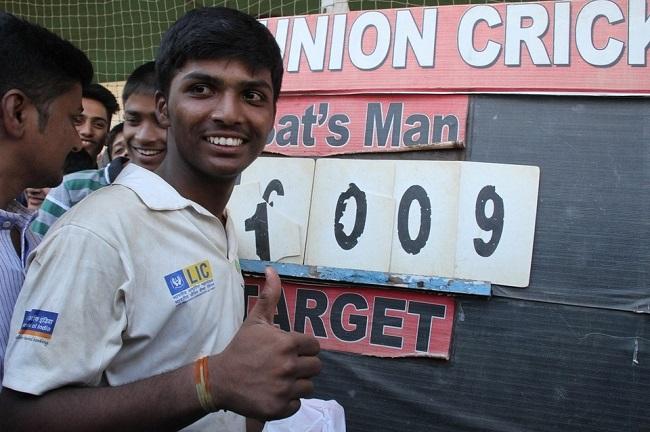 Pranav Dhanawade, Mumbai schoolboy scores 1009 not out!