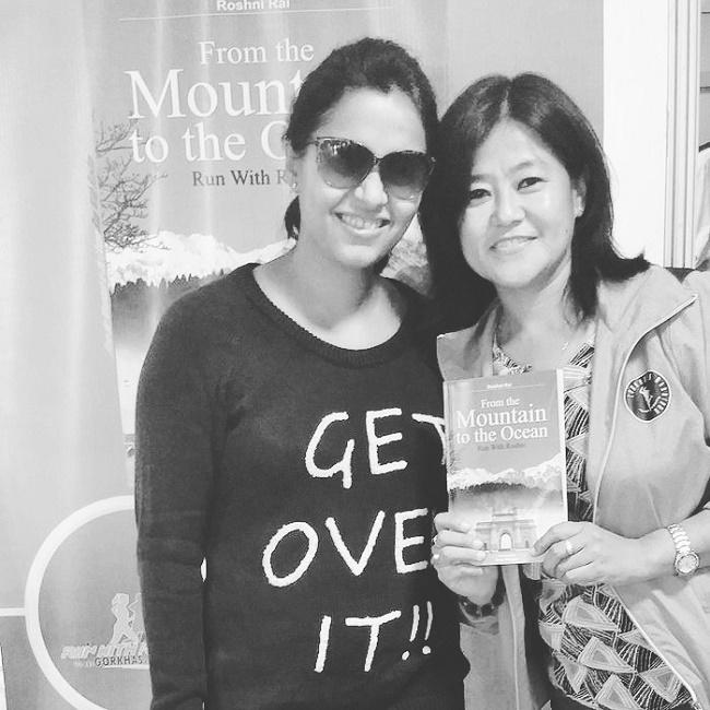 Prerna Sinha with Roshni Rai, Marathon Runner