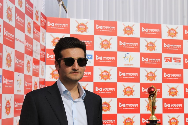 Mr. Vivek Patni - Curator of the tournament and Director, Wonder Cement Ltd.