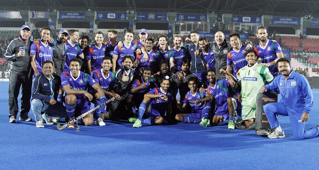 Uttar Pradesh Wizards celebrate their solitary win on home turf
