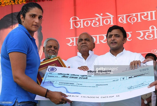 Akhilesh Yadav announces big cash awards, pensions and employment for award-winning sportspersons
