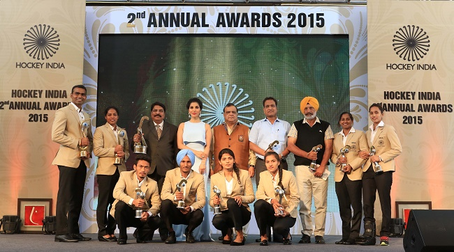 Awardees at the Hockey India Annual Awards 2015