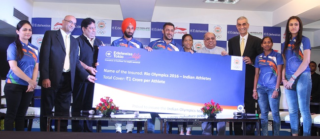 Indian Olympic Association Announces Edelweiss Group as Principal Sponsor and Bollywood Superstar Salman Khan as Brand Ambassador of the Indian Contingent for Rio Olympics 2016