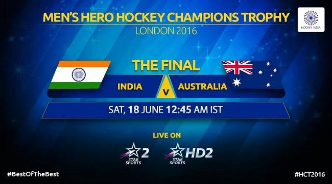 Hockey: India take on Australia in Champions Trophy final