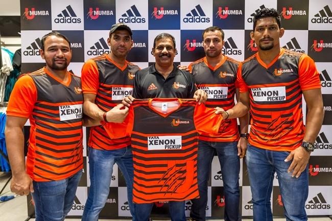 adidas continues partnership with UMumba for season 4 (L - R) Sunil Kumar, Anup Kumar, Coach Bhaskaran Edacherry, Rakesh Kumar, Rishank Devadiga
