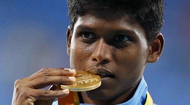 Thangavelu Mariyappan won a gold medal at the Paralympics in Rio de Janeiro