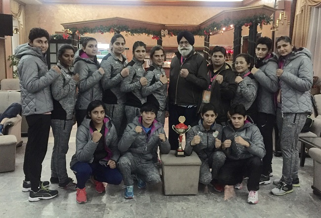 Indian women boxing family with their coach Gurbax Singh Sandhu