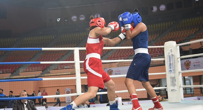 Former World junior Champion Mandeep Kaur of Punjab defeated Madhya Pradesh's Gazal Mariya Mathew in the third round of featherweight division to reach the quarterfinals of Youth Women's National Championship