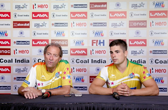 India men's hockey coach Roelant Oltmans during Coal India Hockey India League