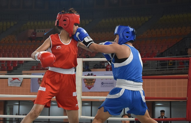 Women Boxers in action at Youth National Boxing Championship
