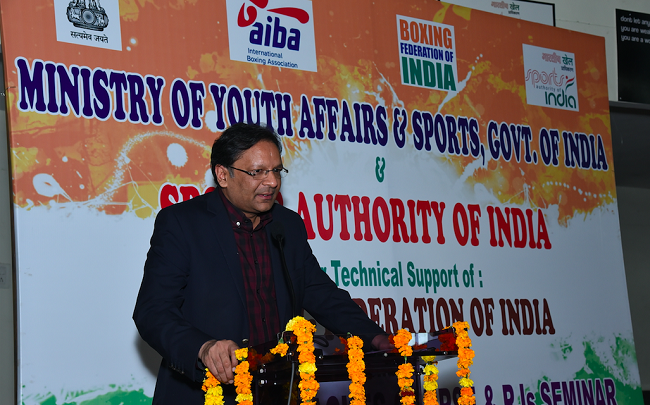 BFI President Ajay Singh inaugurating the AIBA Star One Courses