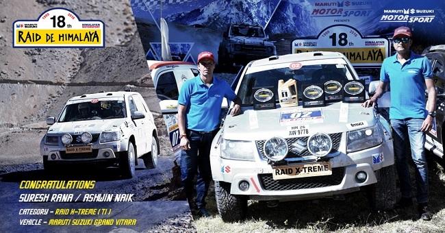 Winners of Maruti Suzuki Raid-de-Himalaya - Suresh Rana and Ashwin Naik