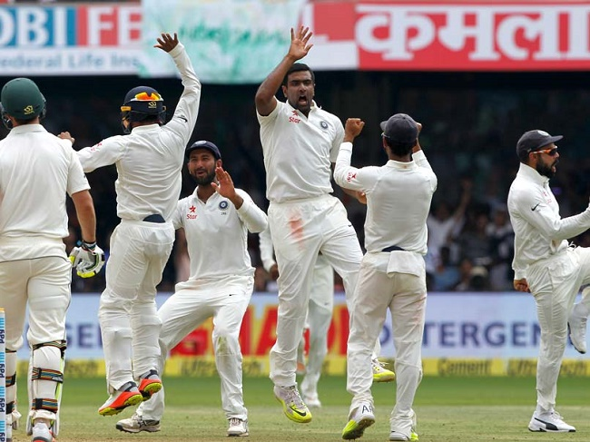 Ravichandran Ashwin picked six wickets as India bowled Australia out for 112 runs to seal a 75-run win.