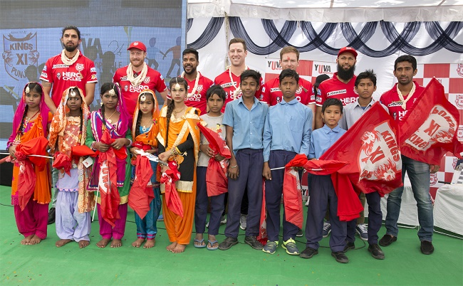 IPL 2017: Kings XI Punjab players along with the school kids