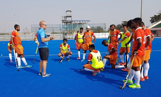 Indian Men's Hockey Team had their first training session on Thursday at the iconic Kalinga Stadium