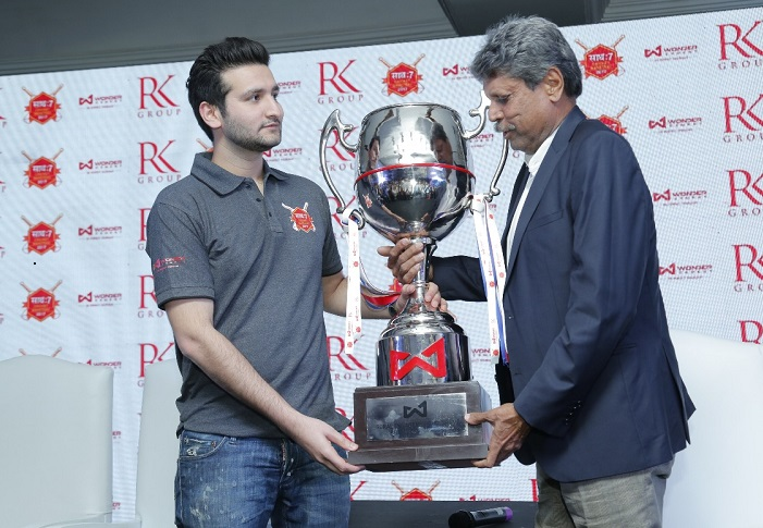 The unveiling of the Wonder Cement Saath7 Cricket Mahotsav trophy